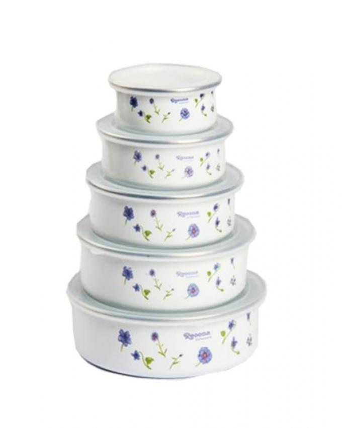 Pack of 5 - Reoona Storage Bowls - White