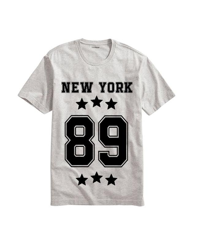 Heather Grey New York Printed T-shirt For Men