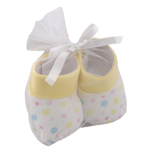 Vitamin Baby Newborn Baby Booties for 0 - 6 Months Baby (Super Soft)  Yellow