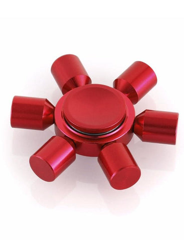 Electrotech Spinner-Six Side Solid Metal-Red