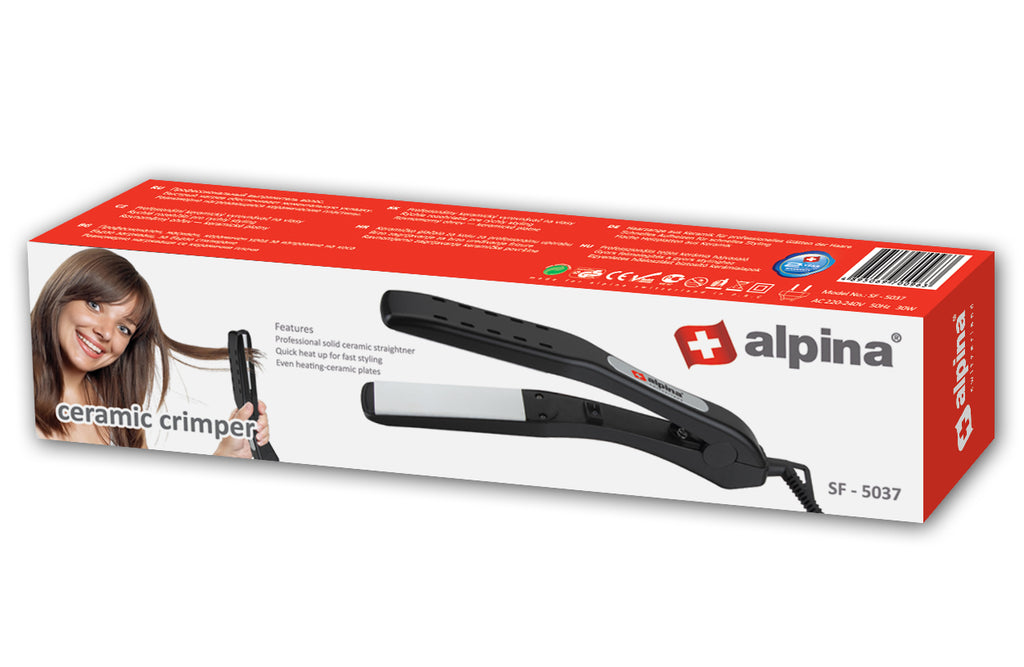 Alpina Solid Ceramic Hair Straightner SF-5037