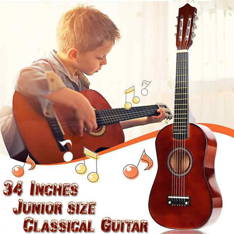 Classical Manual Acoustic Guitar 6 Steel-strings 34-Inch convenient to enjoy the fun time of music anytime, anywhere 157-C