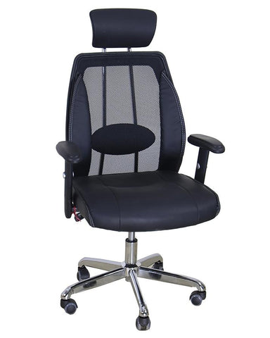 Executive Imported Revolving Chair - Aluminium Body Frame - Black