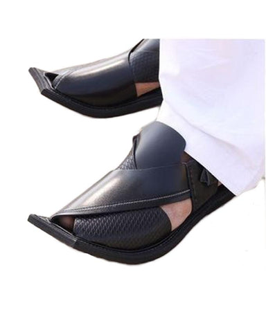 Peshawari chappal Pure Leather Black