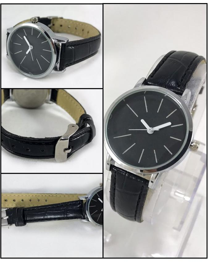 Black Stylish Men's Watch. WS-19