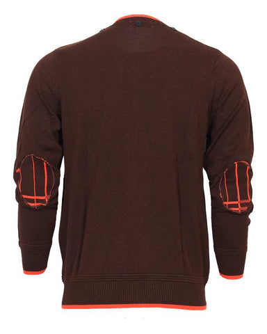 Brown full sleeve Sweater For Men