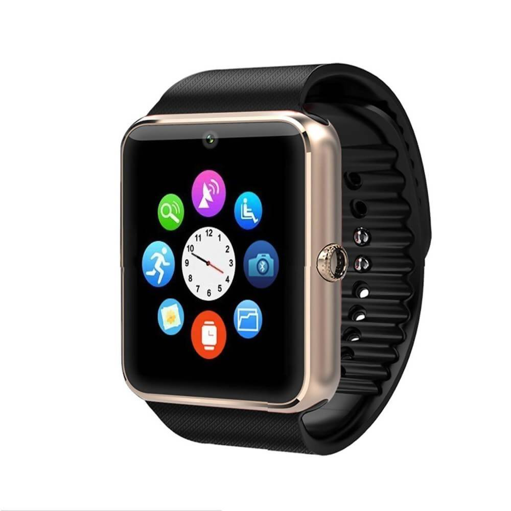 A1 Smart Watch With Passometer Camera SIM Card Call Smartwatch – Copper