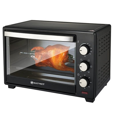 Multynet 1600W Electric Baking Oven Amt-9001/9002 Black