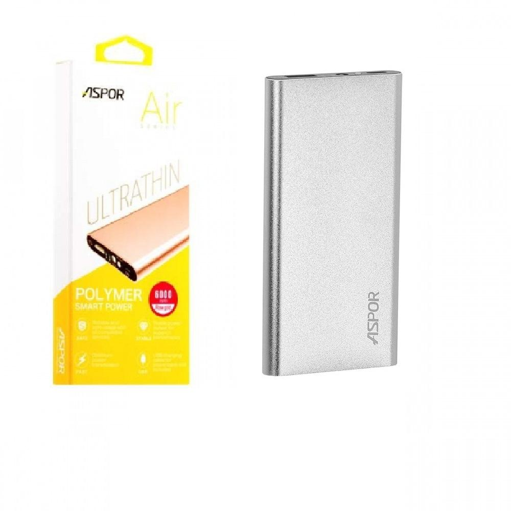 ASPOR POWER BANK 6000MAH POLYMER AIR ULTRA THIN A373