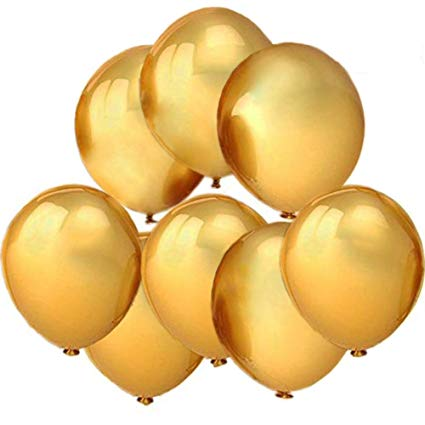 Baloons 50 Pcs Golden Latex AM-Golden Balloon 50