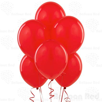 Baloons 50 Pcs Red Latex AM-RED Balloon 50