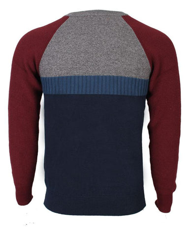 Multicolor Round Neck full sleeve Sweater For Men