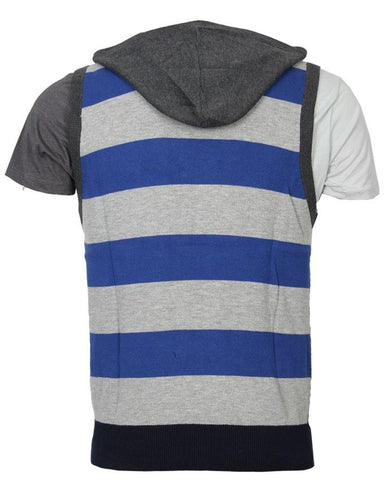 V-Neck Sleeveless Sweater For Men