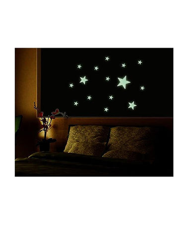 Set of 5 Packs - Night Glowing Big & Small Stars for Kids Rooms