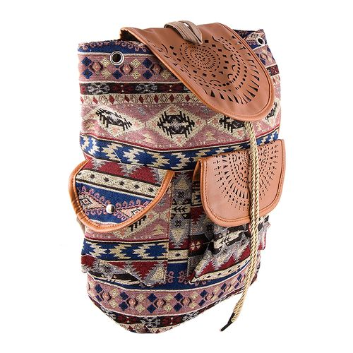 Unique Design Backpack School Bag Notebook Bag Laptop Bag Travel Bag for School and College - Multicolour
