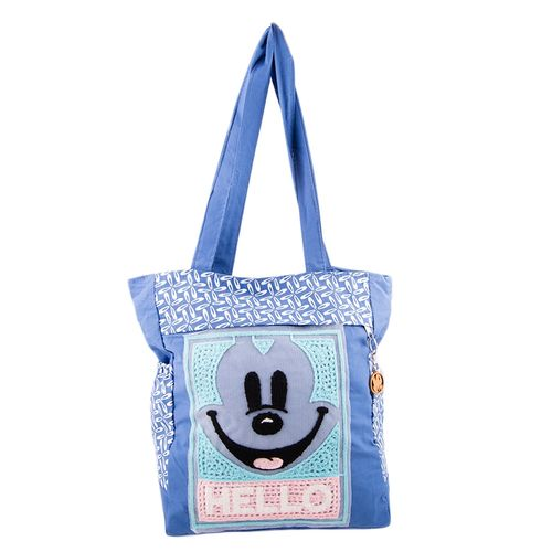 "Minnie Mouse Handbag for School and College - 15x14"" - Blue"