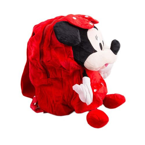 Minnie Mouse Stuffed Toy Backpack School Bag Notebook Bag Laptop Bag Travel Bag for Kids - Red