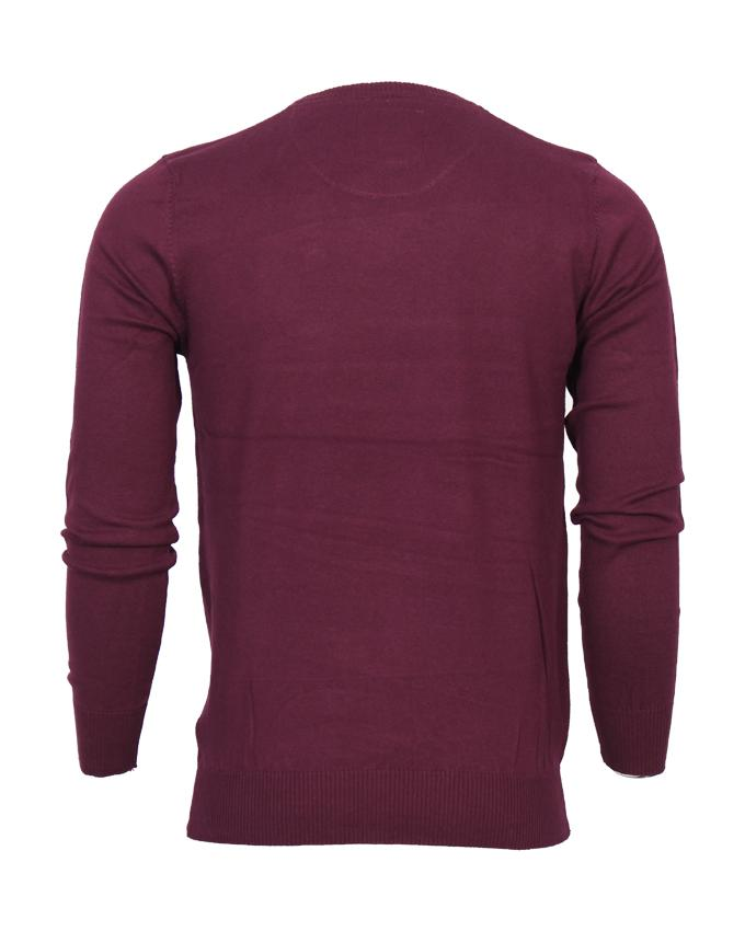 Maroon Plain Round Neck full sleeve Sweater For Men