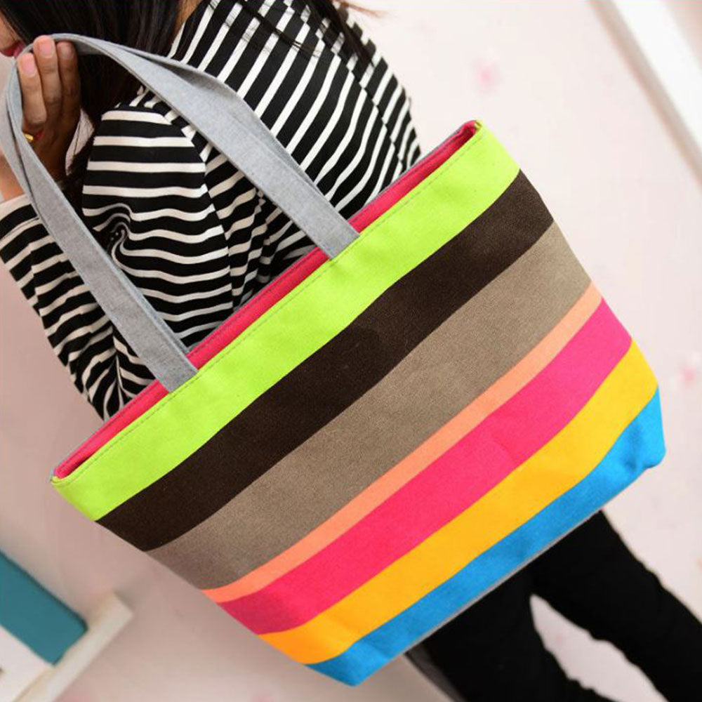 Shopping Mania Beachy Canvas Bag
