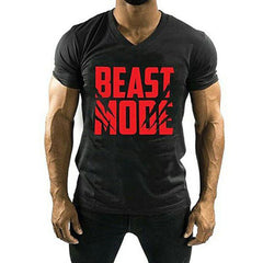 BuySense Black Beast Mode Printed T-Shirt For Men