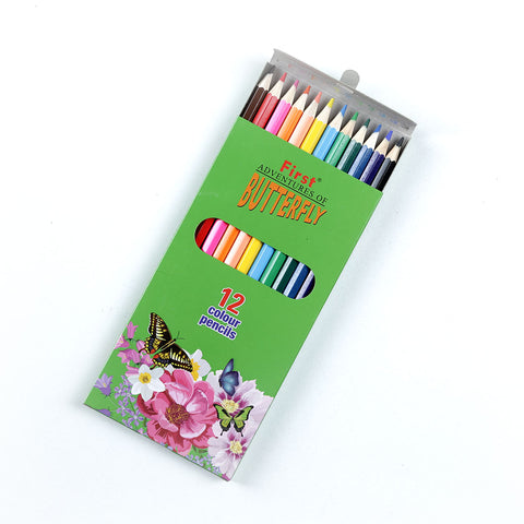 Happy Work Butterfly Color Pencils ( 12 Pcs)