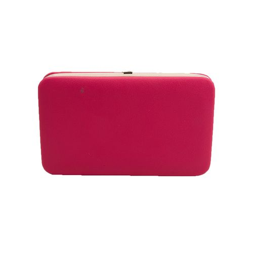 Pink Leather Butterfly Hand Clutch For Women