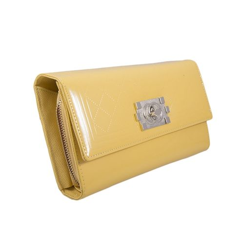 Women's Large Clutch Bag Wedding Purse Prom Clutch - Yellow