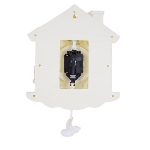 Cukoo Kity Cute House Home Pendulum Silent Wall Clock - Offwhite