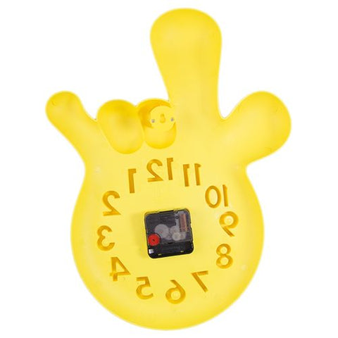 Mirrorless Without Mirror Thumbs Up Victory Hand Wall Clock - Yellow