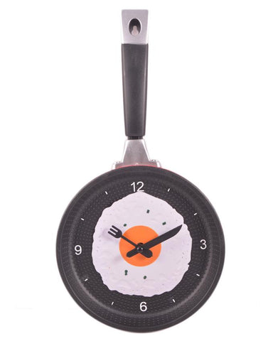 Mirrorless Frying Pan Wall Clock-12 Inch