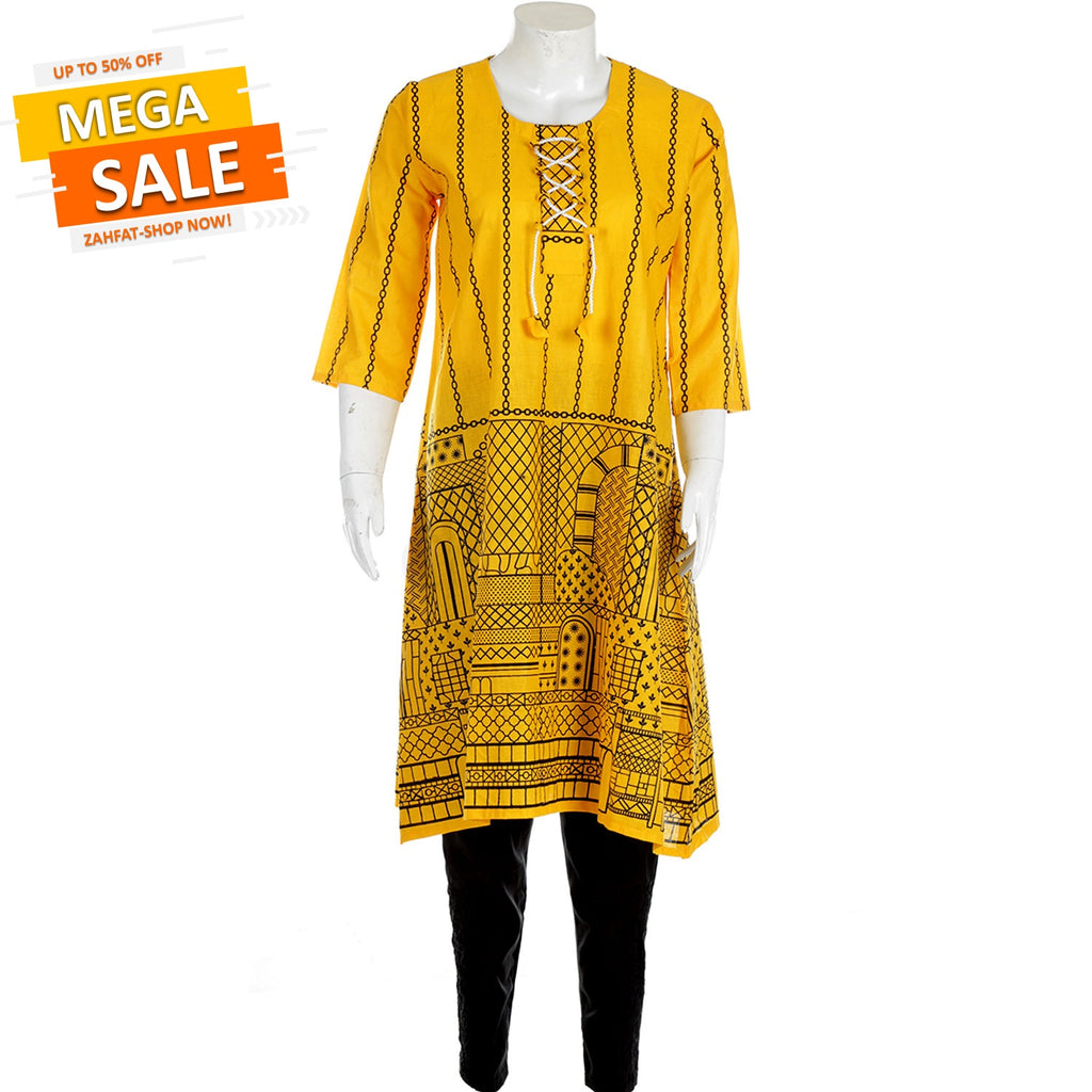 ZAHFAT Summer Lawn Collection -ZHFT36YELLOW