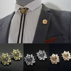 Shopping Mania Crown Shield Brooch Shirt Pins Pair