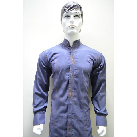 Kostume Denim Sherwani Kurta with White Shalwar