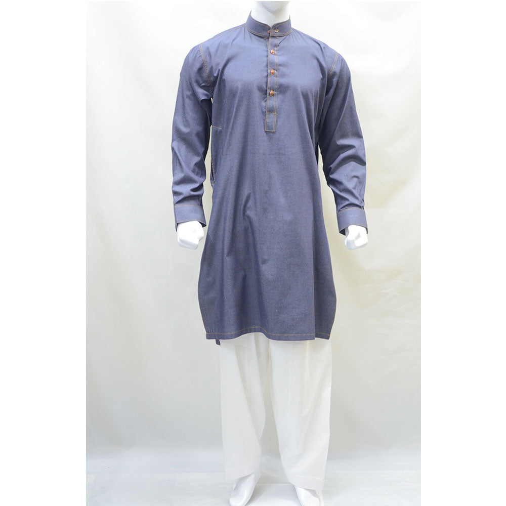 Kostume Denim Kurta with White Shalwar
