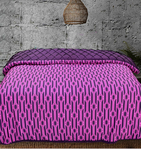 Khas New Collection Geo Palm Quilt Cover