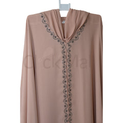 Abaya-With Tukree stones , Front Open /Close