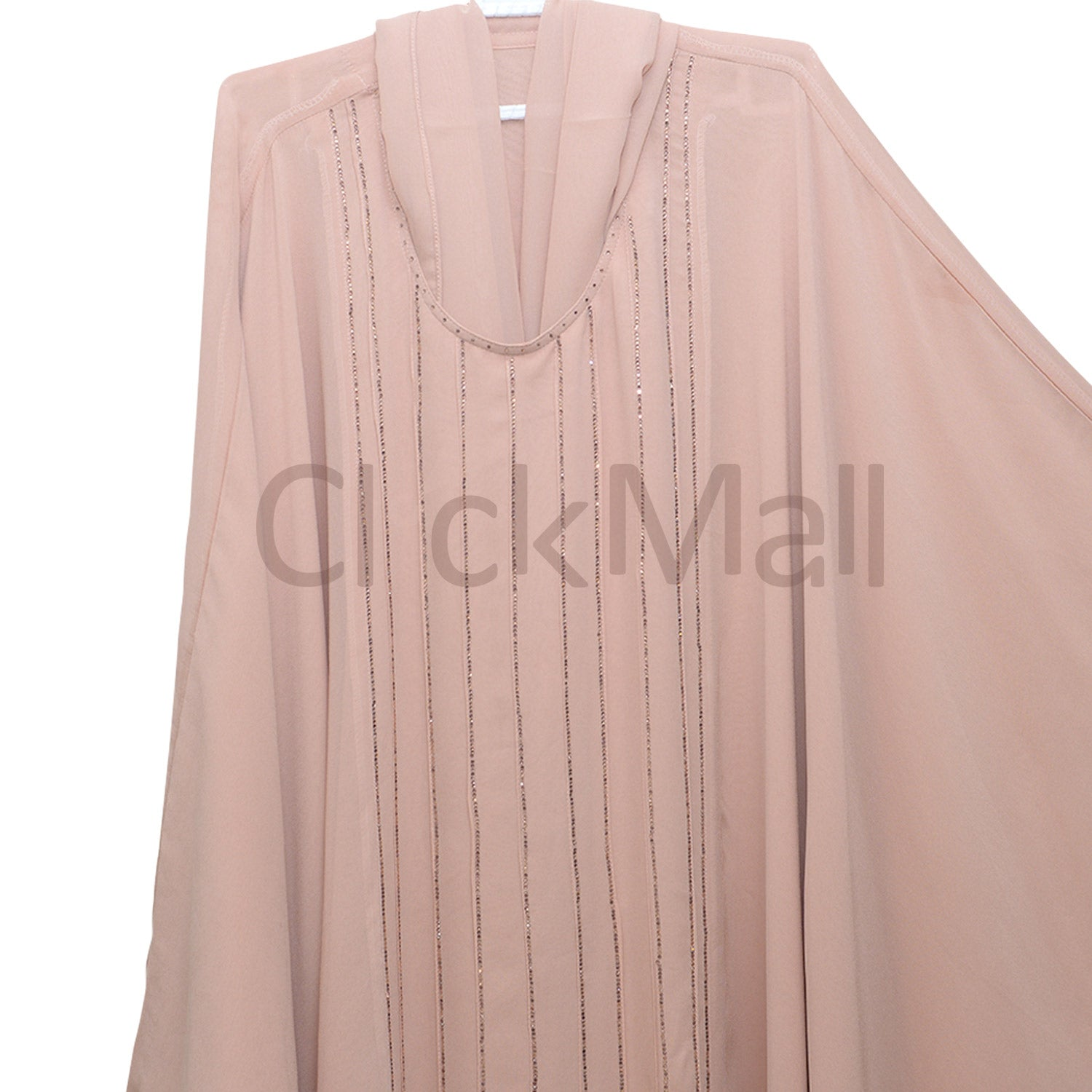 Abaya-Taftan-with Stone lines on front