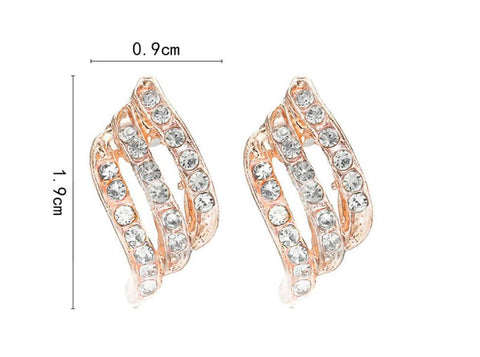 Crystal Stud Rose Gold Earrings