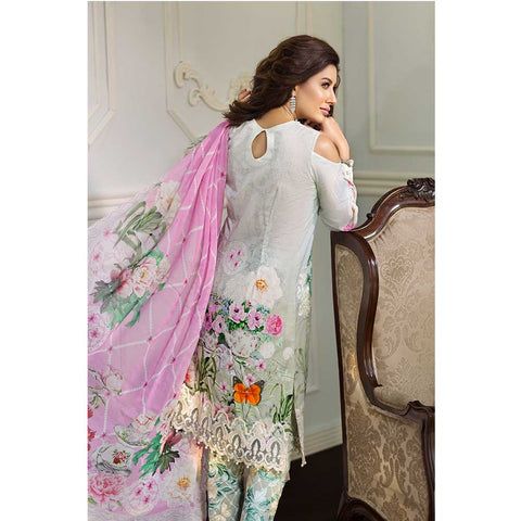 Vesttire Unstitched Lawn Suit - Ethereal Ice VT-018-011