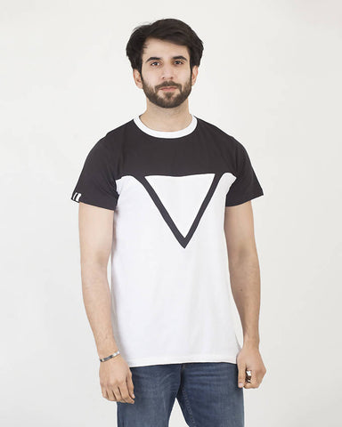 Crafted Mens 2 Color Triangle Tee CTSM19-06-M