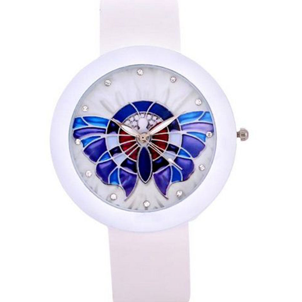 Shopping Mania Blue Butterfly Watch