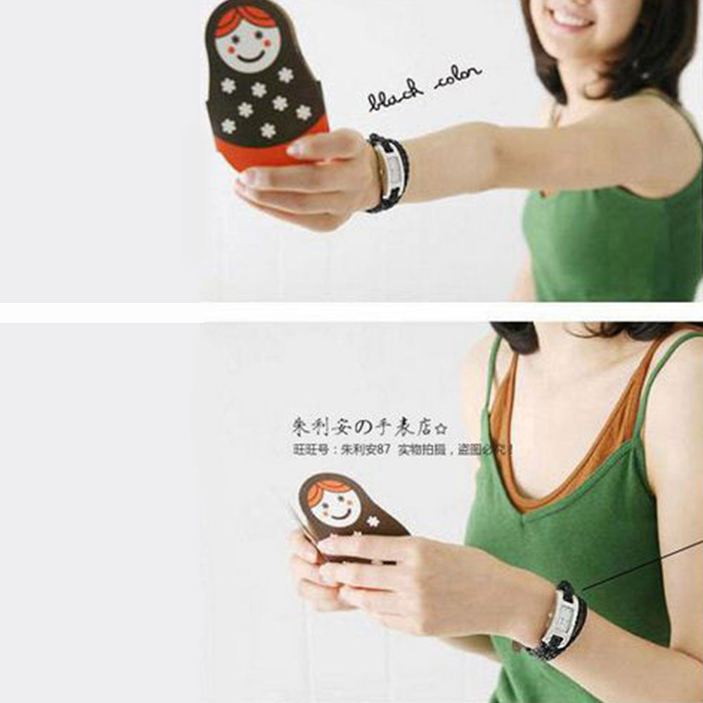 Shopping Mania Leather Rope Watch