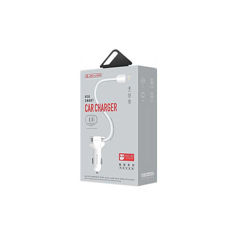 HKT 5V 2.1A double USB car charger 2 USB - White