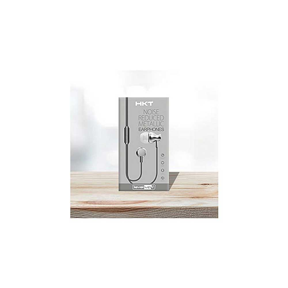 HKT Level Up 3 Perfumed Wire Universal Earphones - Silver