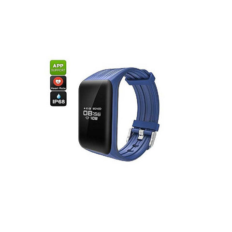 HKT K1 Smart Bracelet Bluetooth Heart Rate Monitor - Blue