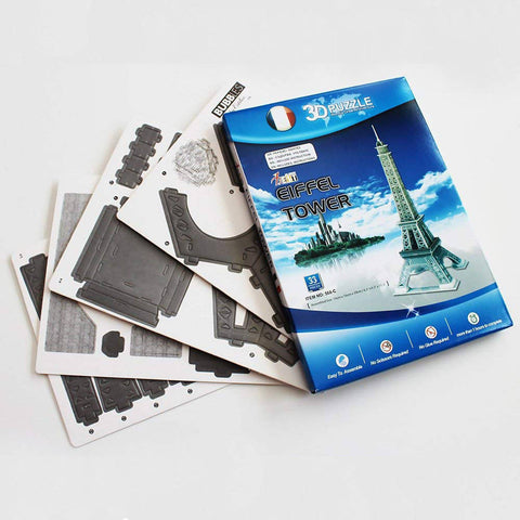 33PC DIY Kid's Puzzle Toy 3D Stereo Eiffel Tower Model DIY Assembled Plaything 568-C - Eiffel Tower - 5015