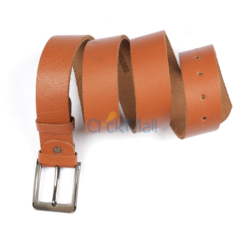 Sheikh Leather Brown Original leather Belt SLC-NUBK- Buy 1 Get 1 Free