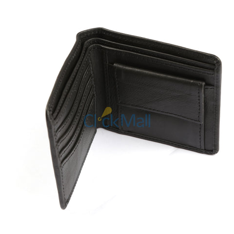Sheikh Leather Black Leather Wallet-07 SLC-BL