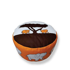 Elephant Foot Stool Bean Bag - Orange