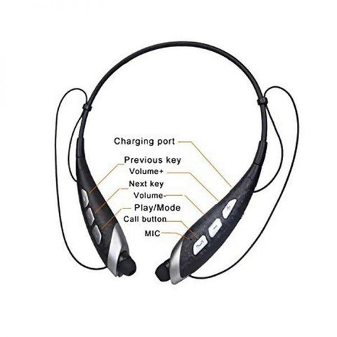 HBS-560 Wireless Neckband Stereo Bluetooth Headphones | Supports microSD Card (W-KING)